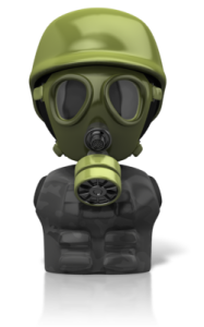 Chemical Hazard and gas Mask